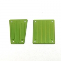 CNC Machined Aluminum Front and Rear Skid Plates for EXO Buggy (Green)